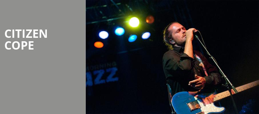 Citizen Cope, The Ranch Concert Hall Saloon, Fort Myers
